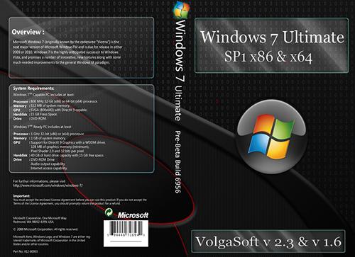 Windows 7 Ultimate SP1 х86-x64 VolgaSoft